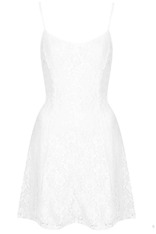 Vestidos lenceros otoño 2013 - Top Shop blanco
