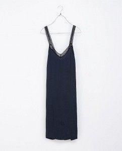Vestidos lenceros otoño 2013 - Zara largo