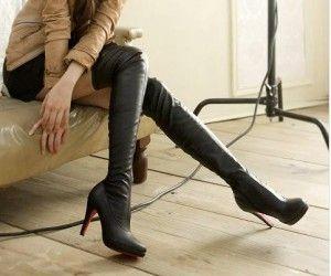 Botas altas por encima de la rodilla - tacón