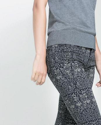 Pantalones estampados de Zara - Barroco