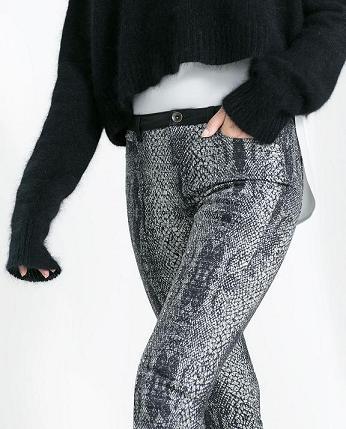 Pantalones estampados de Zara - Serpiente