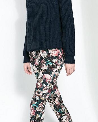 Pantalones estampados de Zara - Flores