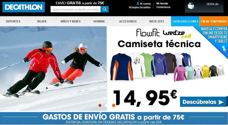 Dónde comprar ropa deportiva online - Decathlon