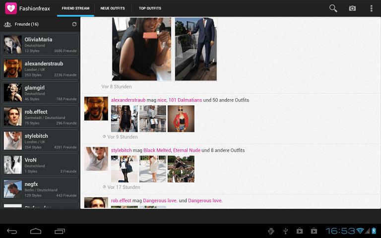 Aplicaciones de moda para Android - Fashion Freax