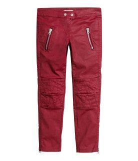 Isabel Marant para H&M - Vaqueros encerados moteros rojos 99€