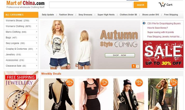 Donde comprar ropa barata online - Mart of China