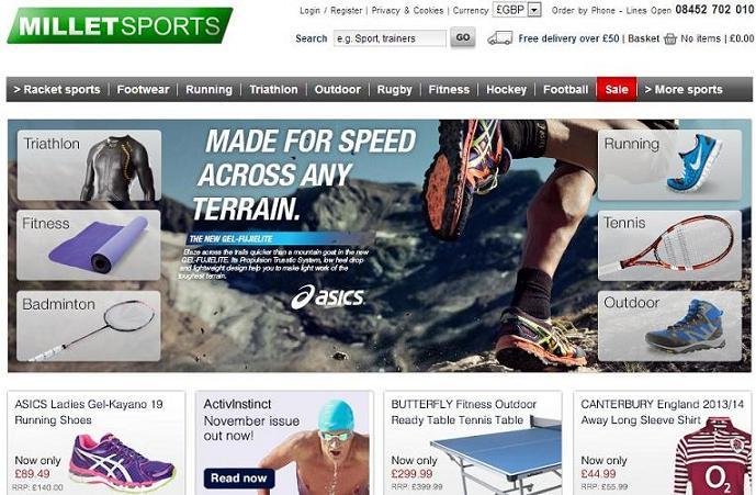 Dónde comprar ropa deportiva online - Millet sports