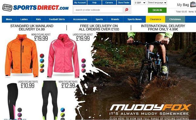 Dónde comprar ropa deportiva online - Sports direct