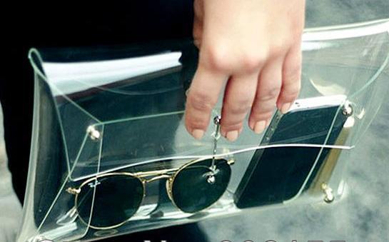 Bolsos clutch baratos - Modelo transparente