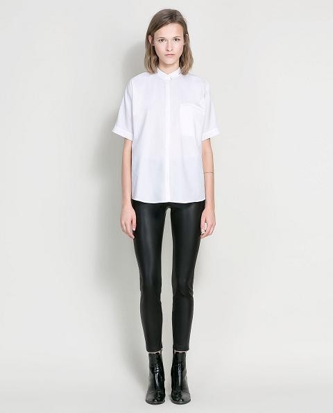 Pantalones de cuero para mujer - Zara