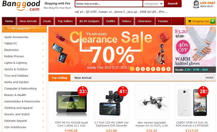 Tiendas Chinas online - BangGood