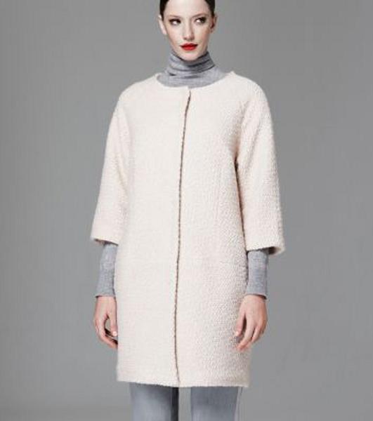 Abrigos a precios irresistibles - Blanco sin cuello
