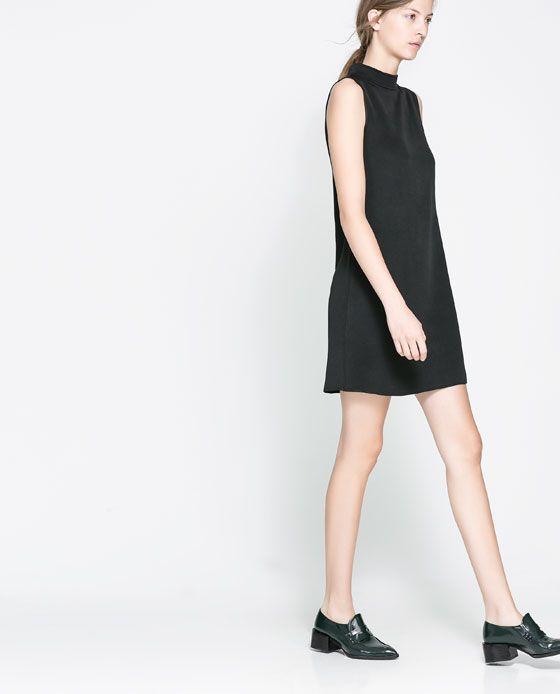 Rebajas de Zara 2014 - Vestido cuello chimenea