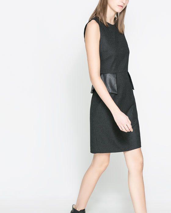 Rebajas de Zara - Vestido peplum
