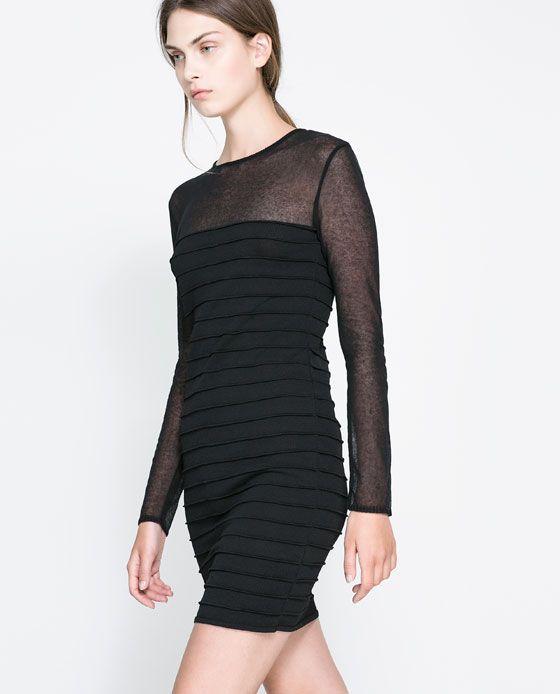 Rebajas de Zara - Vestido dobleces