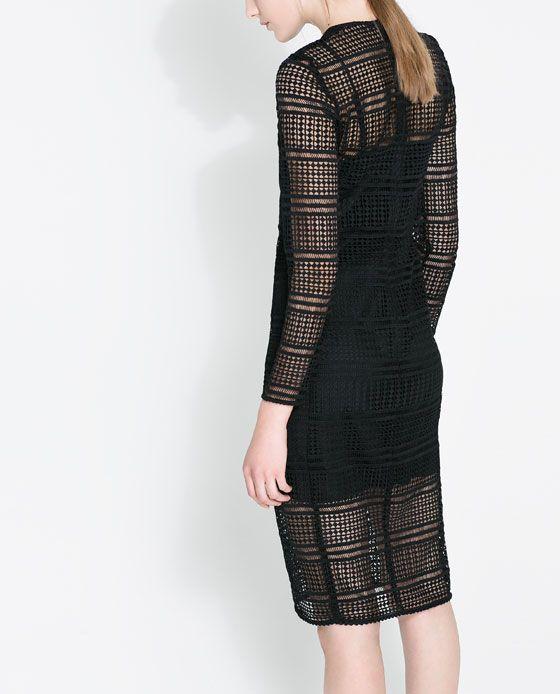 Rebajas de Zara - Vestido transparencias
