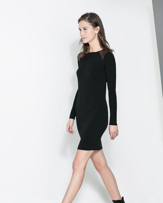 Rebajas de Zara - Hombro transparente