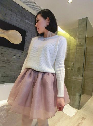 Falda tutu larga