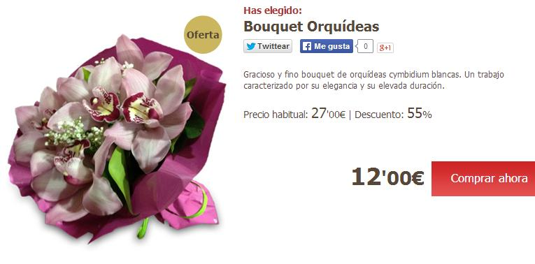 Enviar flores a domicilio baratas - Ramo orquídeas