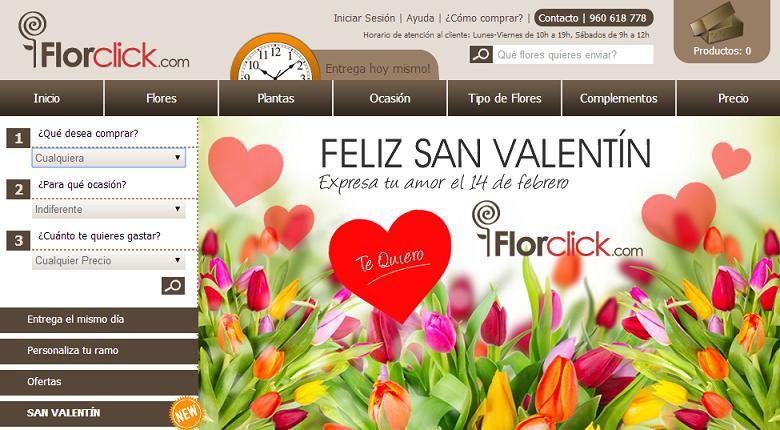 Enviar flores a domicilio baratas con FlorClick