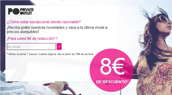 Outlet de ropa de marca online con Private Outlet