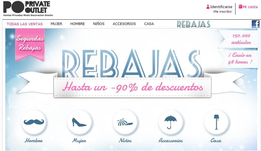 Outlet de ropa de marca online con Private Outlet