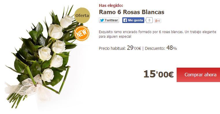 Enviar flores a domicilio baratas - Ramo rosas blancas