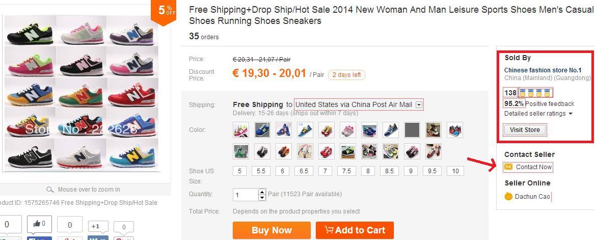 Zapatillas New Balance baratas - Votos positivos del vendedor