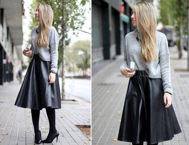 Combinar una falda midi