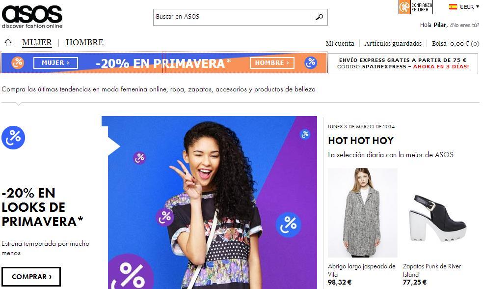 Tiendas para comprar ropa online - Asos