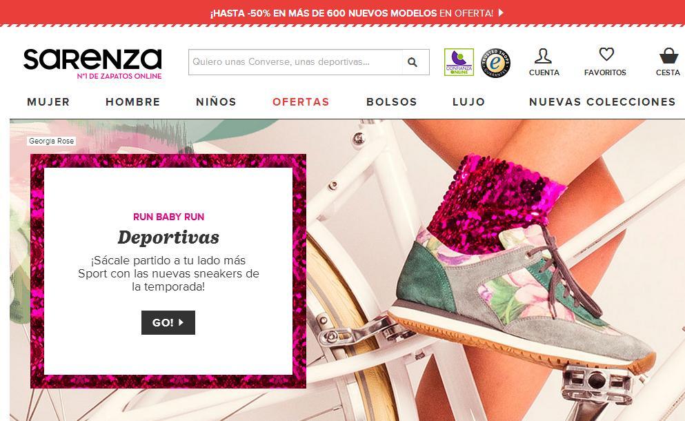 Tiendas para comprar ropa online - Sarenza