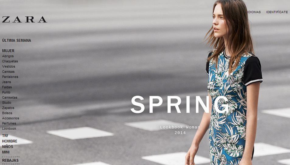 Tiendas para comprar ropa online - Zara