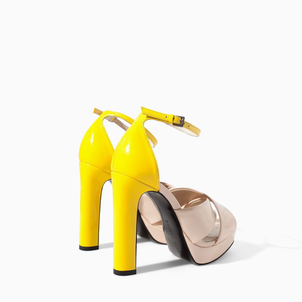 Color de moda para el verano - Tacón plataforma