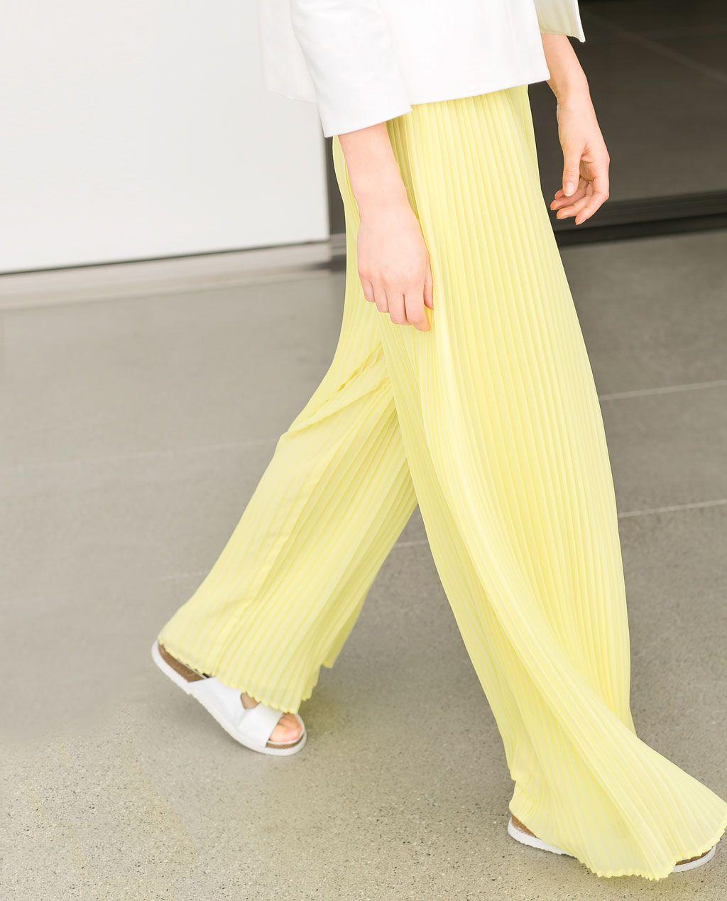 Color de moda para el verano 2014 - Pantalón palazzo