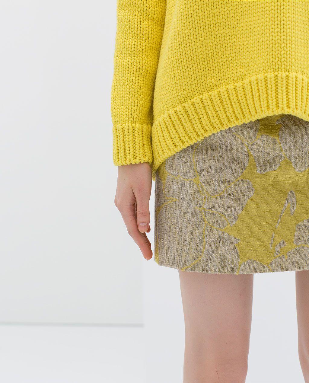 Color de moda para el verano 2014 - Falda flores
