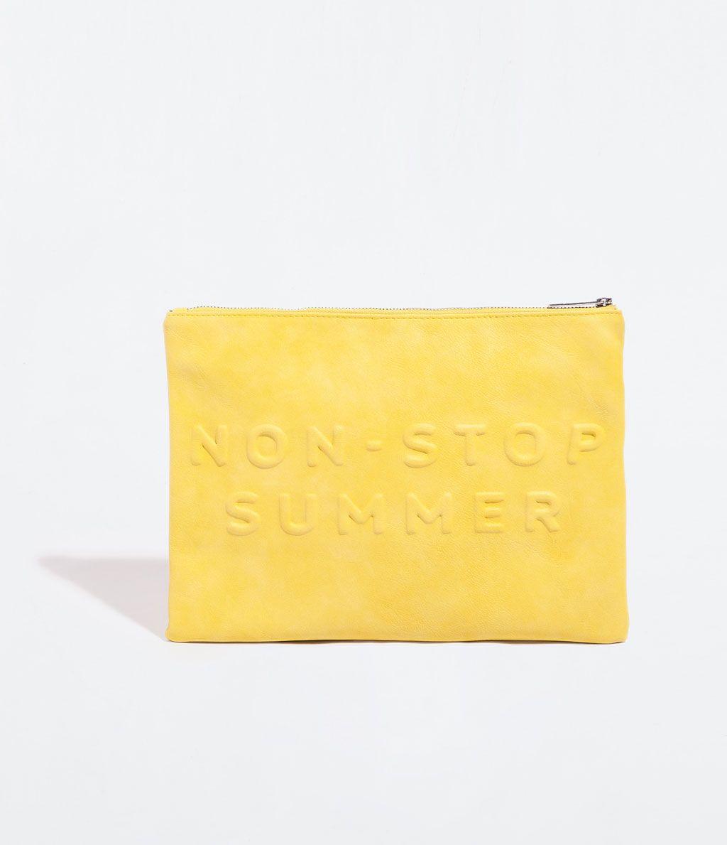 Color de moda para el verano 2014 - Clutch mensaje