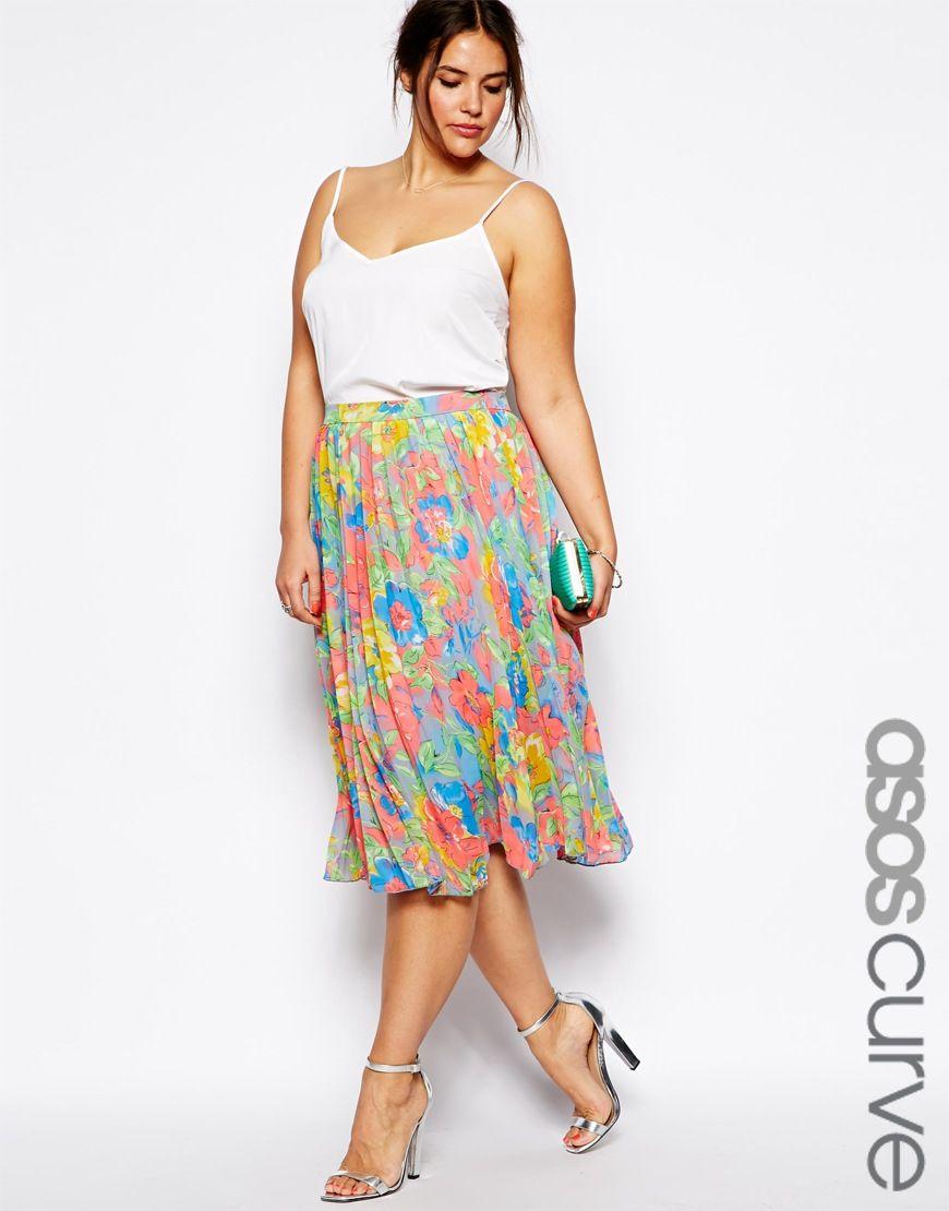 Ropa de tallas grandes - Falda midi de Asos