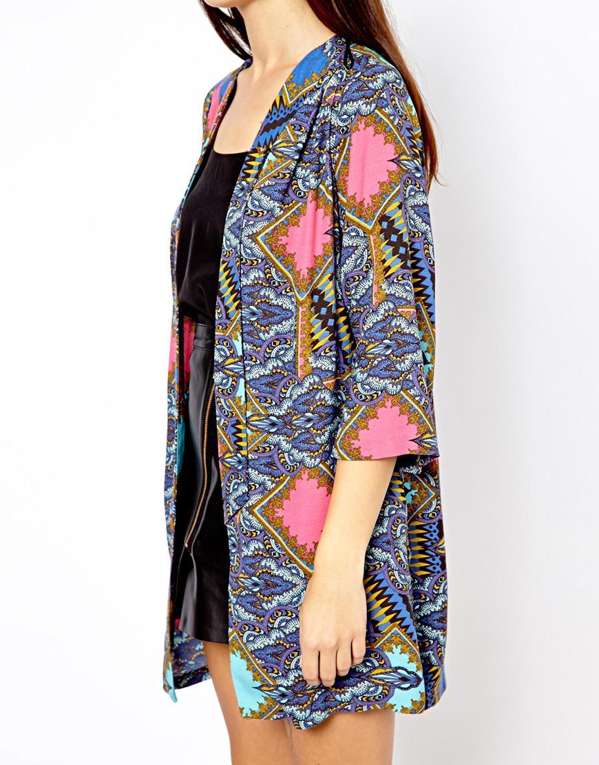 Chaquetas kimono online - Azul y rosa