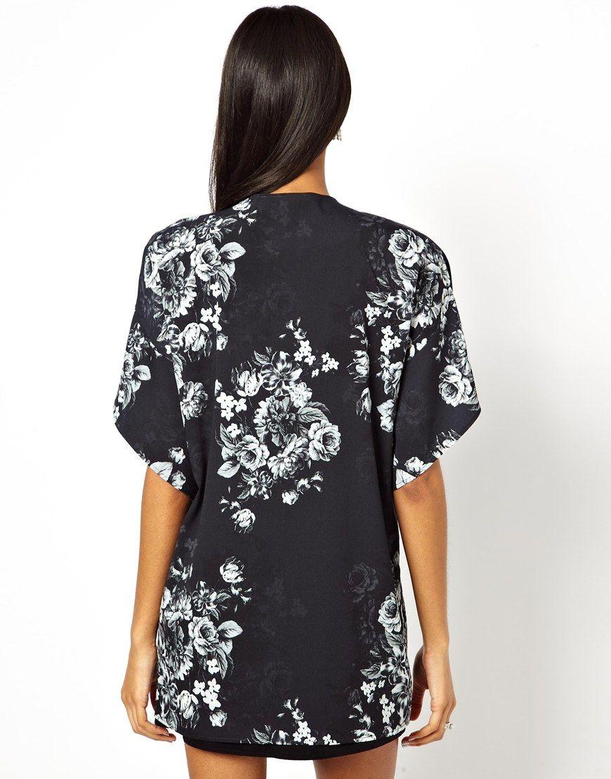 Chaquetas kimono online - Blanco y negro