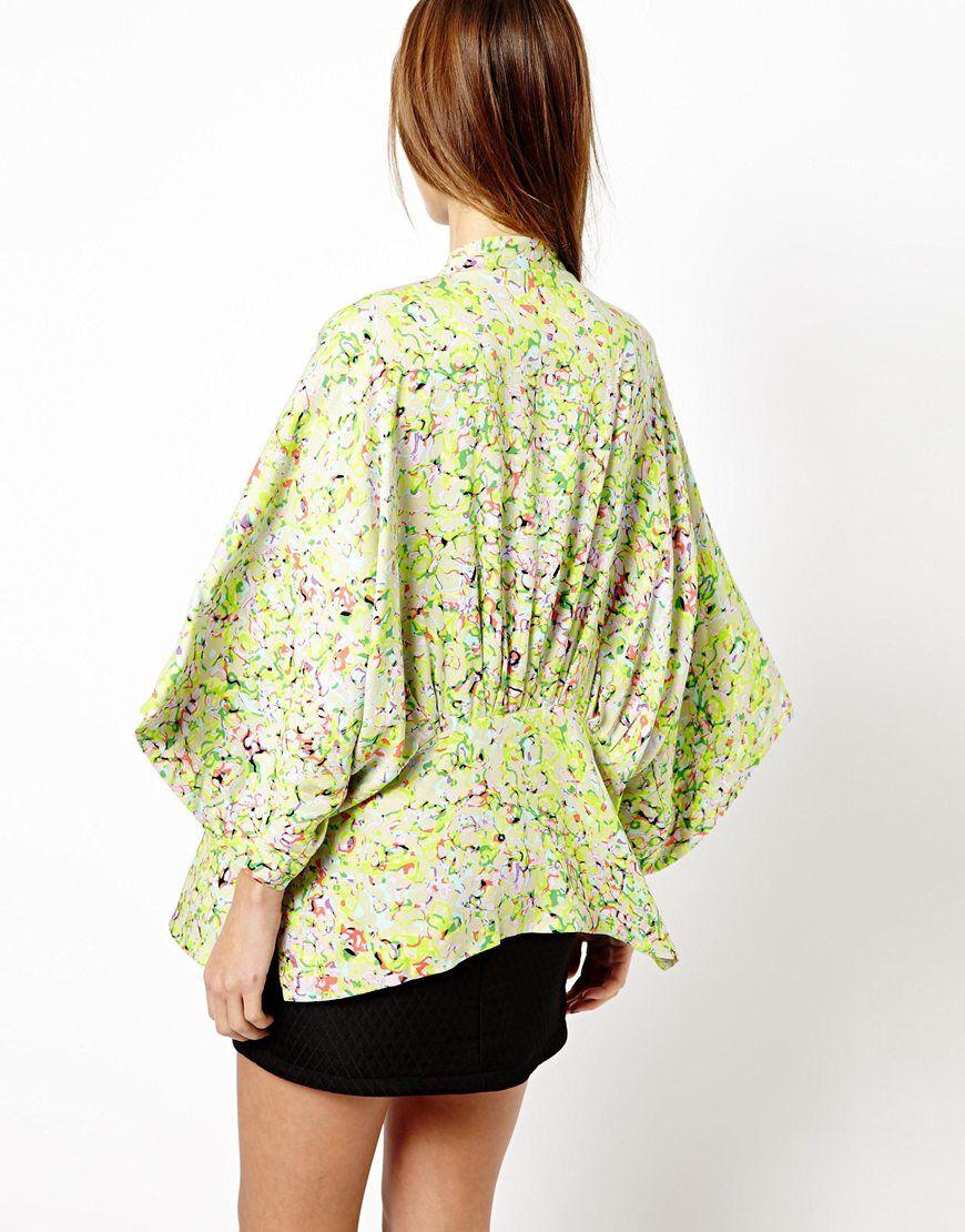 Chaqueta kimono online - Tonos verdes
