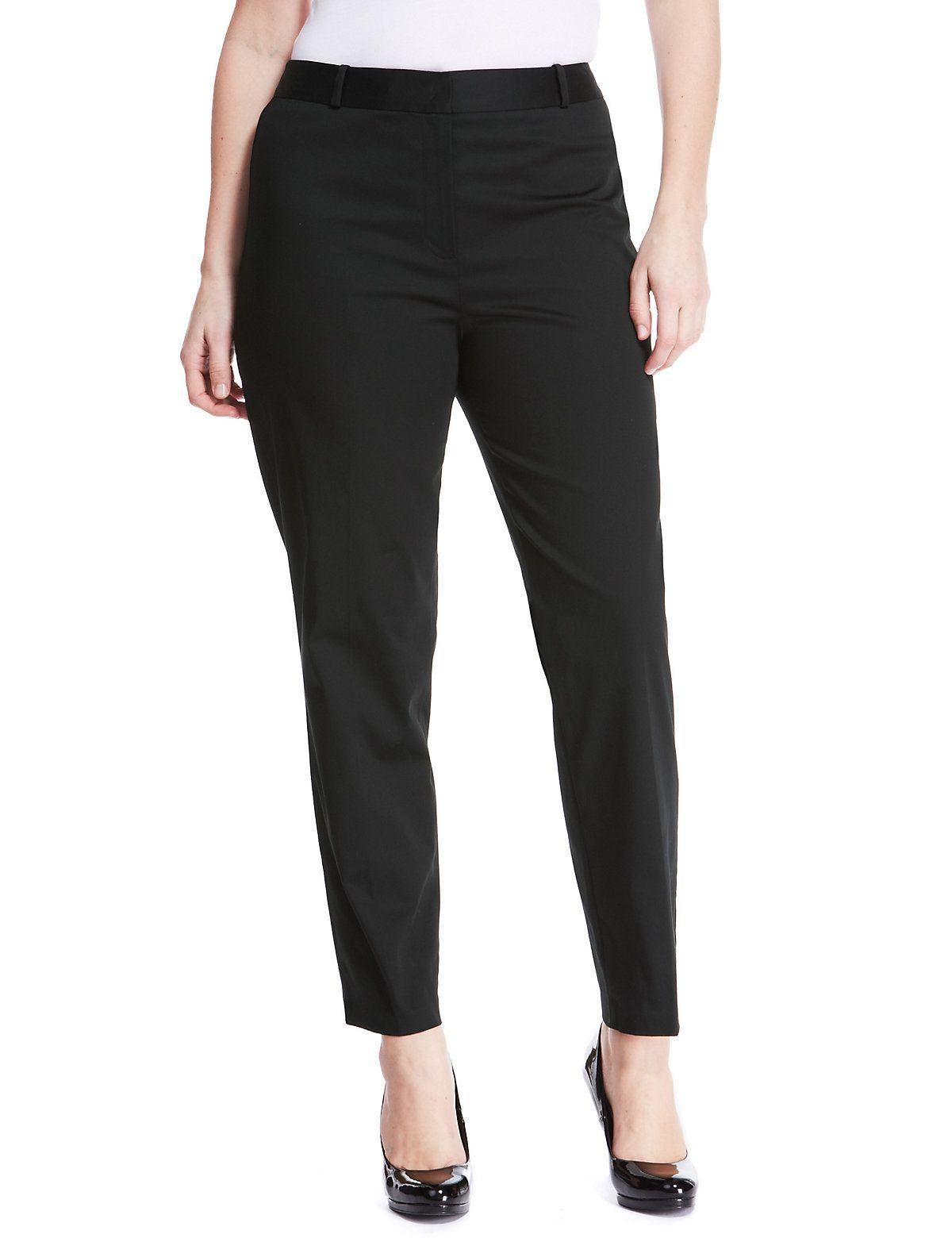 Ropa tallas grandes - Pantalón negro en Marks and Spencer