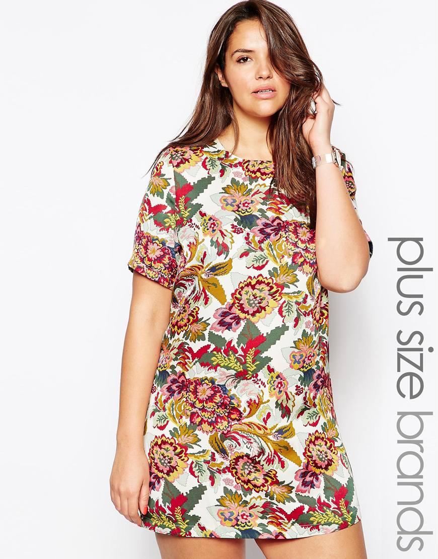 Ropa de tallas grandes - Vestido de flores de Asos