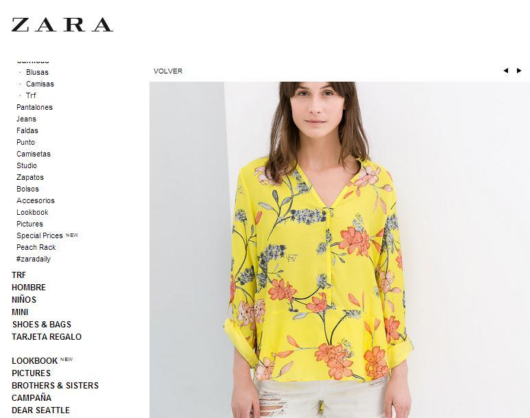 Imitaciones chinas Zara - Camisa en Zara