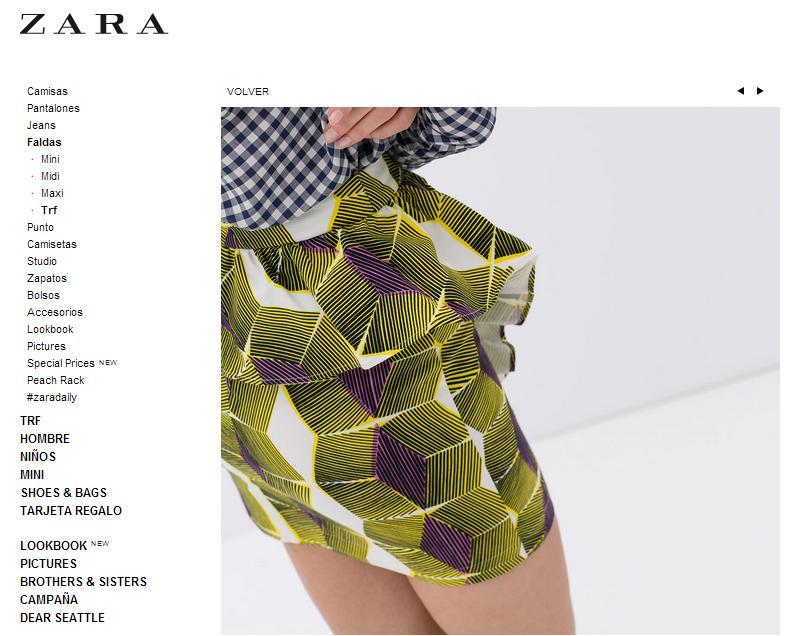 Imitaciones chinas Zara - Falda en Zara
