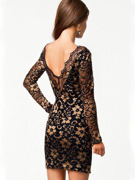 Comprar vestidos online - Vestido negro de encaje