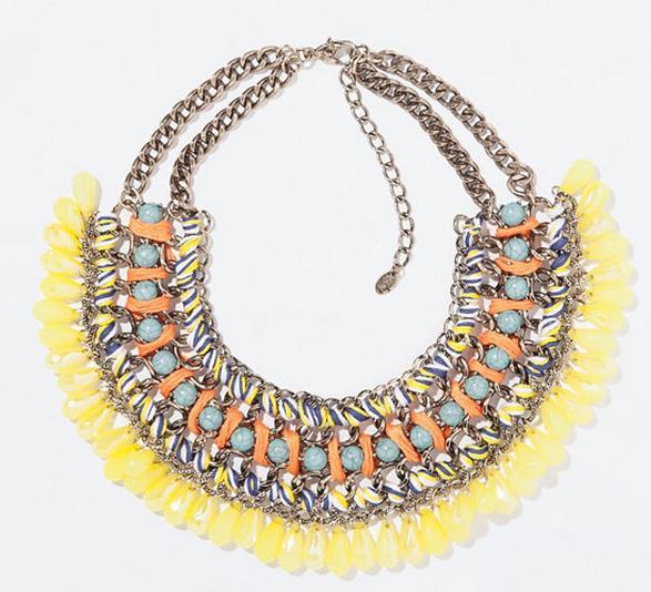 Collares de imitación de Zara - Collar étnico amarillo