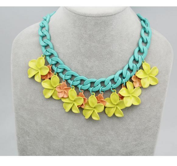 Collares de imitación - Collar de flores amarillas