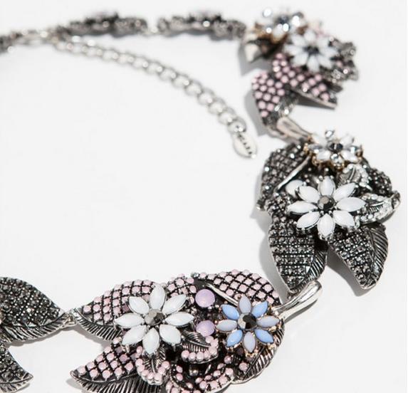 Collares de imitación de Zara - Collar de hojas