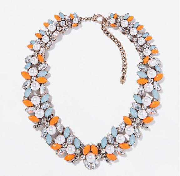 Collares de imitación - Collar de piedras naranjas