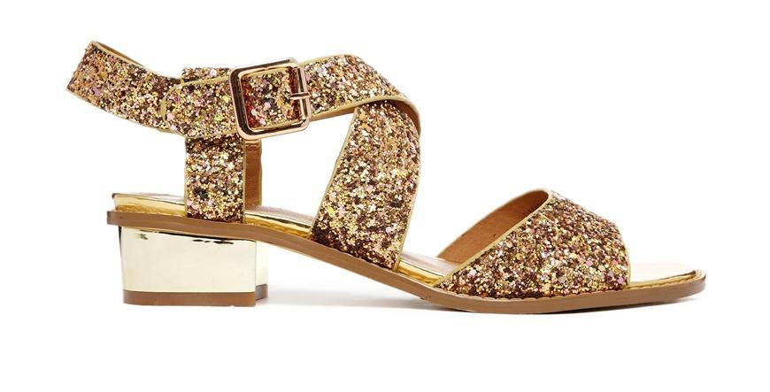 Tendencias en sandalias - Sandalias glitter